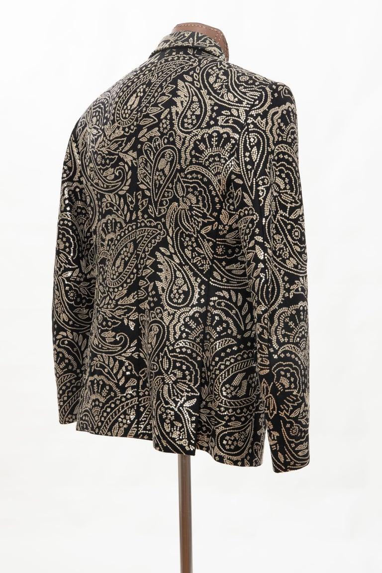 Alexander McQueen Men's Runway Black Wool Embroidered Sequin Blazer, Fall 2016 For Sale 4