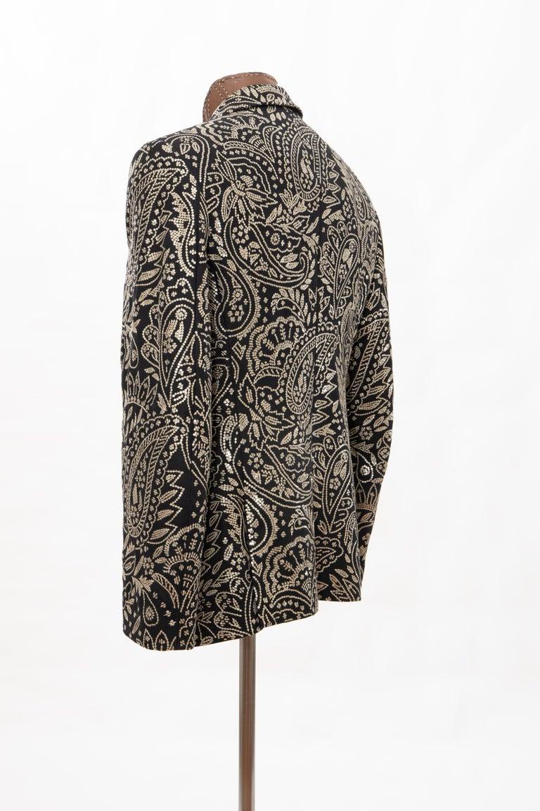 Alexander McQueen Men's Runway Black Wool Embroidered Sequin Blazer, Fall 2016 For Sale 6