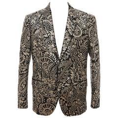 Alexander McQueen Men's Runway Black Wool Embroidered Sequin Blazer, Fall 2016