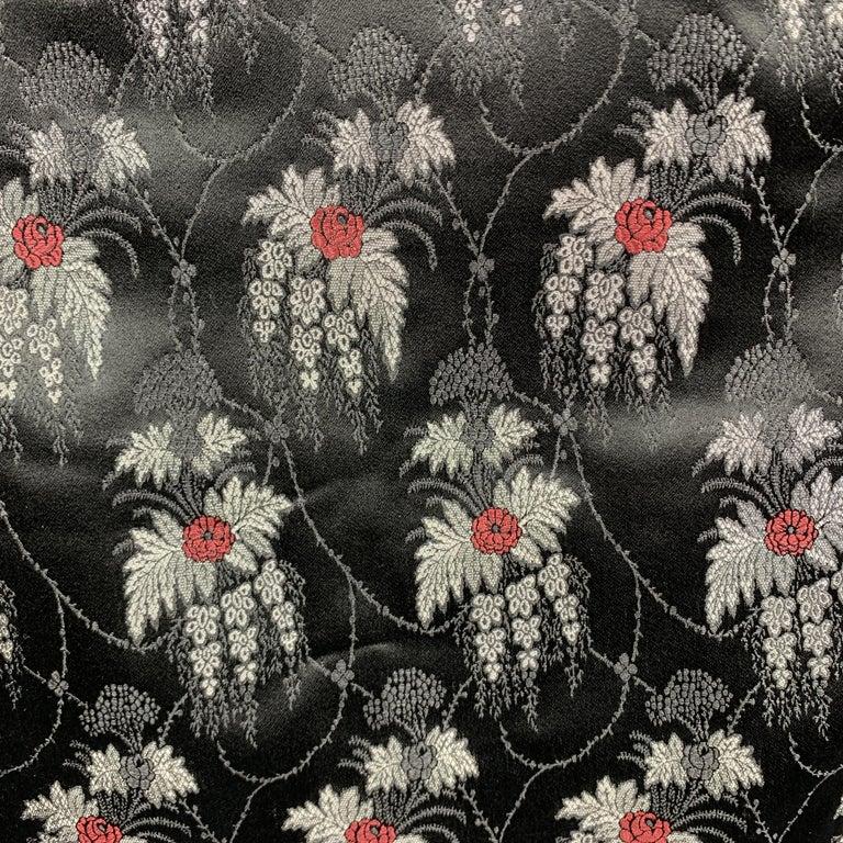 ALEXANDER MCQUEEN Mixed Fabrics Black Silk Scarf For Sale 1