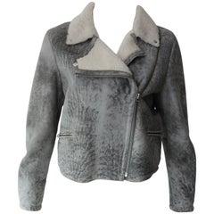 Alexander McQueen Moto Grey Jacket