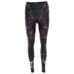 Alexander McQueen Multicolor Digital Print Leggings L