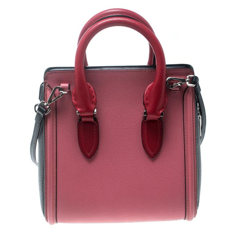 Handbags are more than just instruments to carry one's essentials. They tell a woman's sense of style and the better the bag, the more confidence she gets when she holds it. Alexander McQueen brings you one such bag meticulously made from leather.