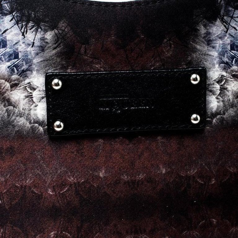 Alexander McQueen Multicolor Satin Medium De Manta Clutch For Sale 7