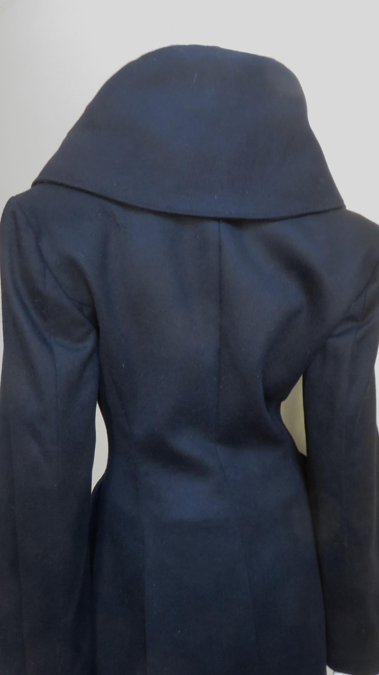 Alexander McQueen New Cashmere Jacket and Skirt A/W 1999 For Sale 5