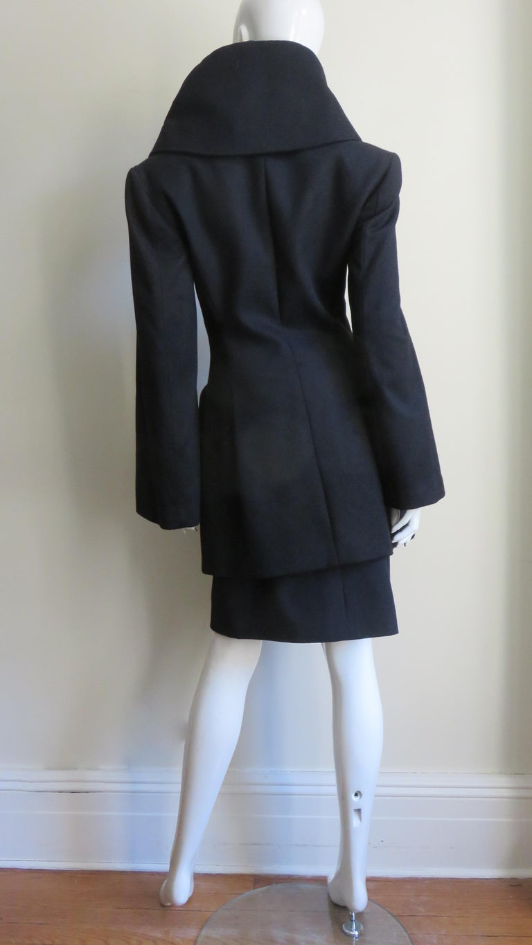 Alexander McQueen New Cashmere Jacket and Skirt A/W 1999 For Sale 6