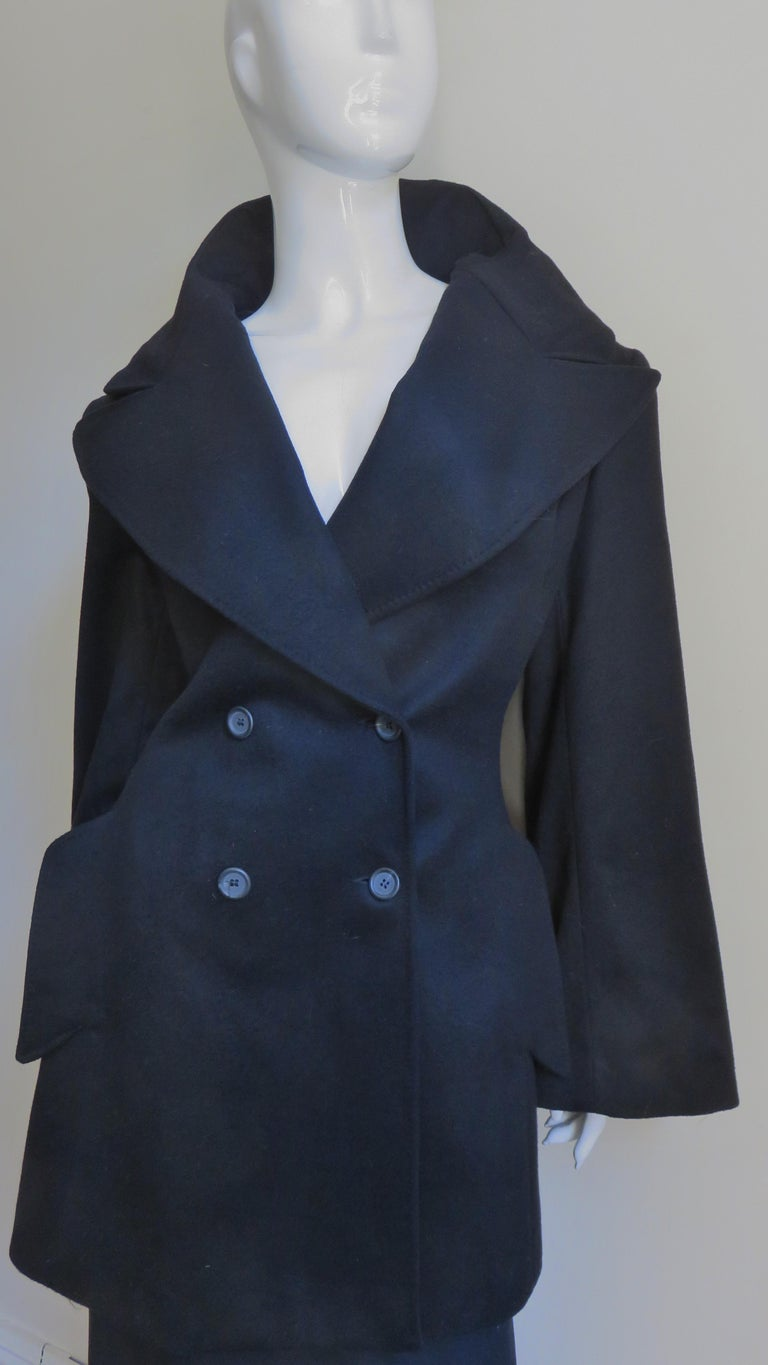 Alexander McQueen New Cashmere Jacket and Skirt A/W 1999 In Excellent Condition For Sale In New York, NY
