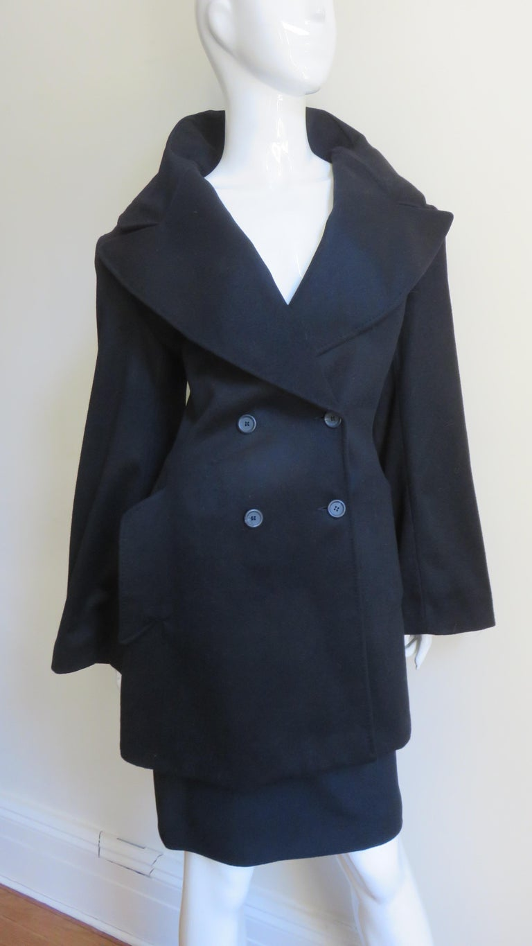 Alexander McQueen New Cashmere Jacket and Skirt A/W 1999 For Sale 1