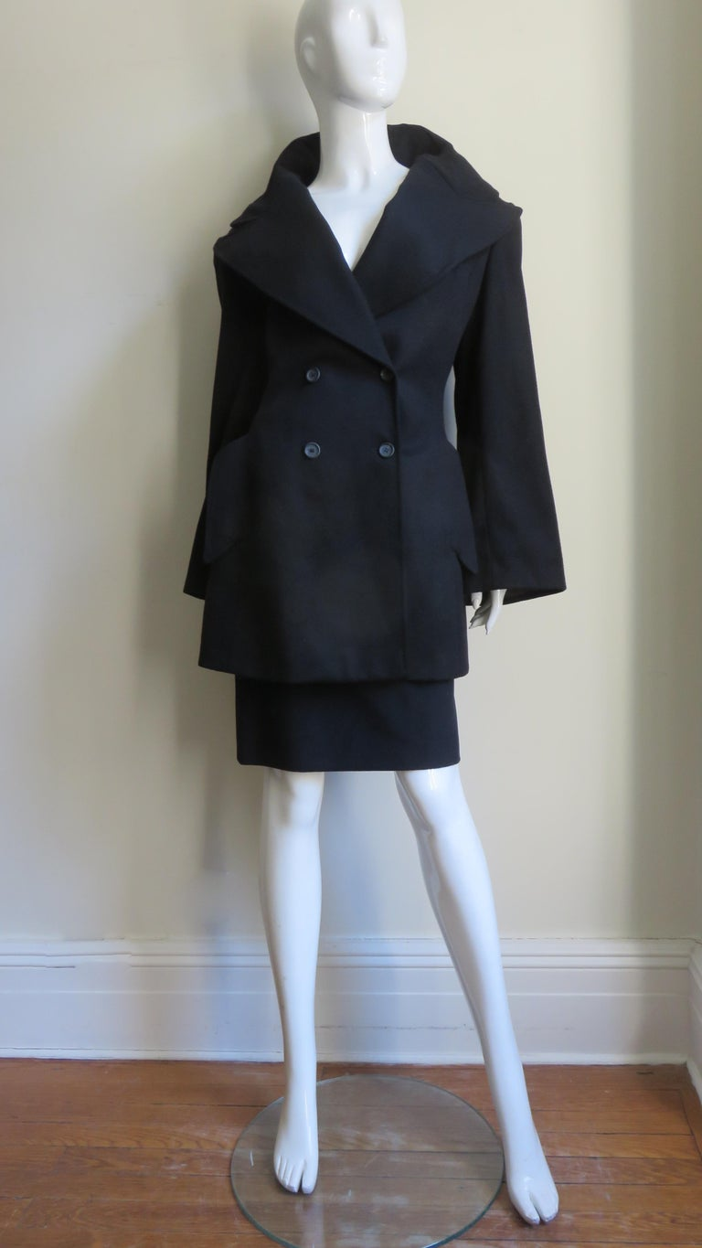Alexander McQueen New Cashmere Jacket and Skirt A/W 1999 For Sale 2