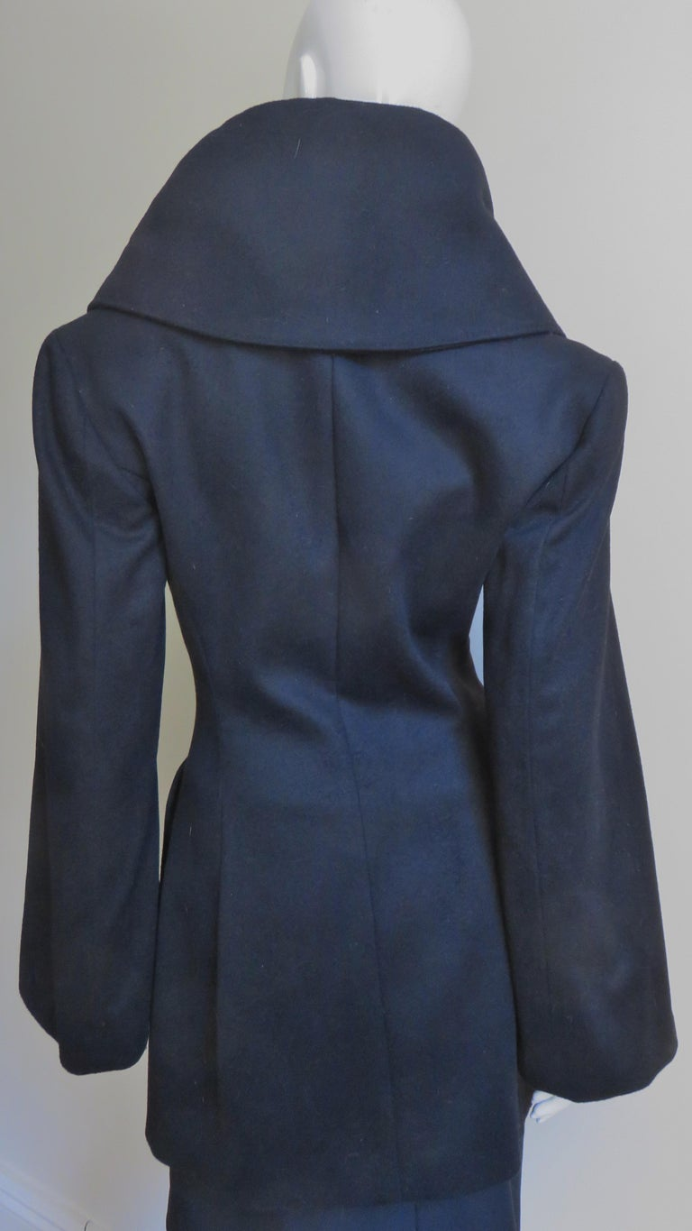Alexander McQueen New Cashmere Jacket and Skirt A/W 1999 For Sale 4