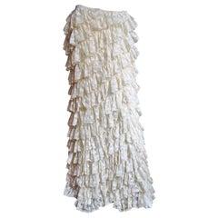 Alexander McQueen New Lace Ruffle Maxi Skirt SS 1999