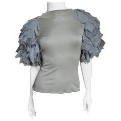 Alexander McQueen New Layered Sleeve Silk Top S/S 1999