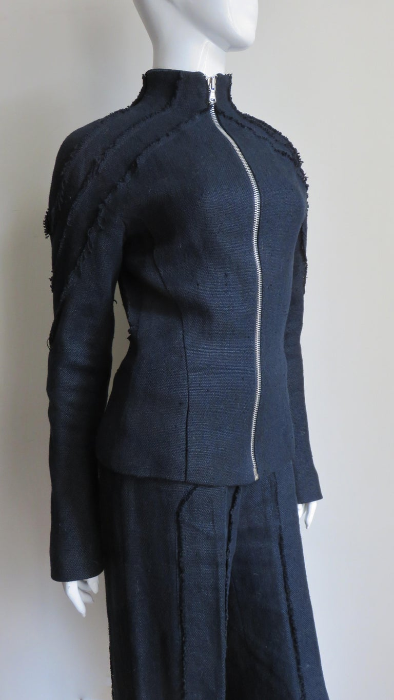 Alexander McQueen New Seamed Jacket and Pants A/W 1999 For Sale 6
