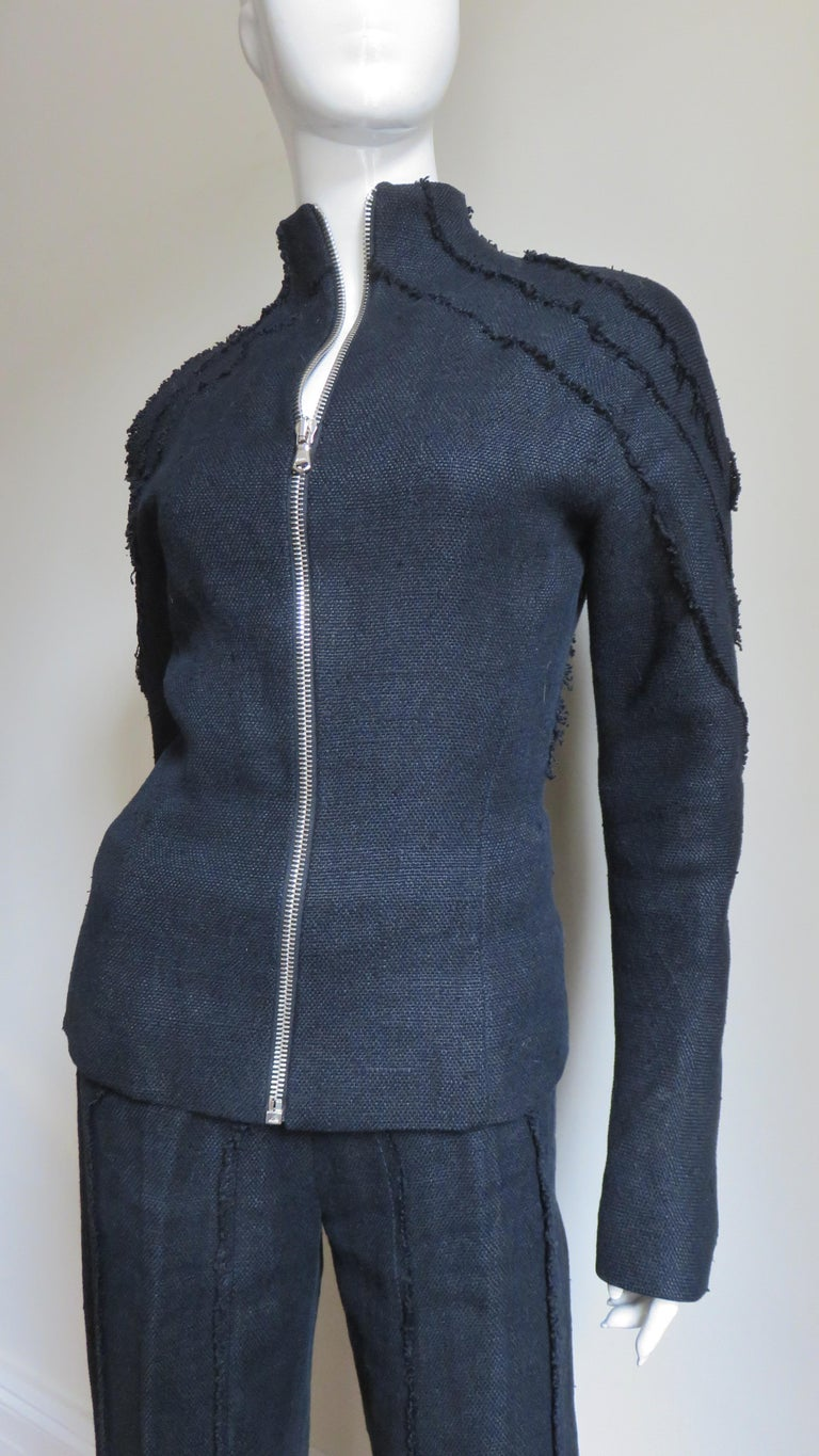 Alexander McQueen New Seamed Jacket and Pants A/W 1999 In Good Condition For Sale In New York, NY