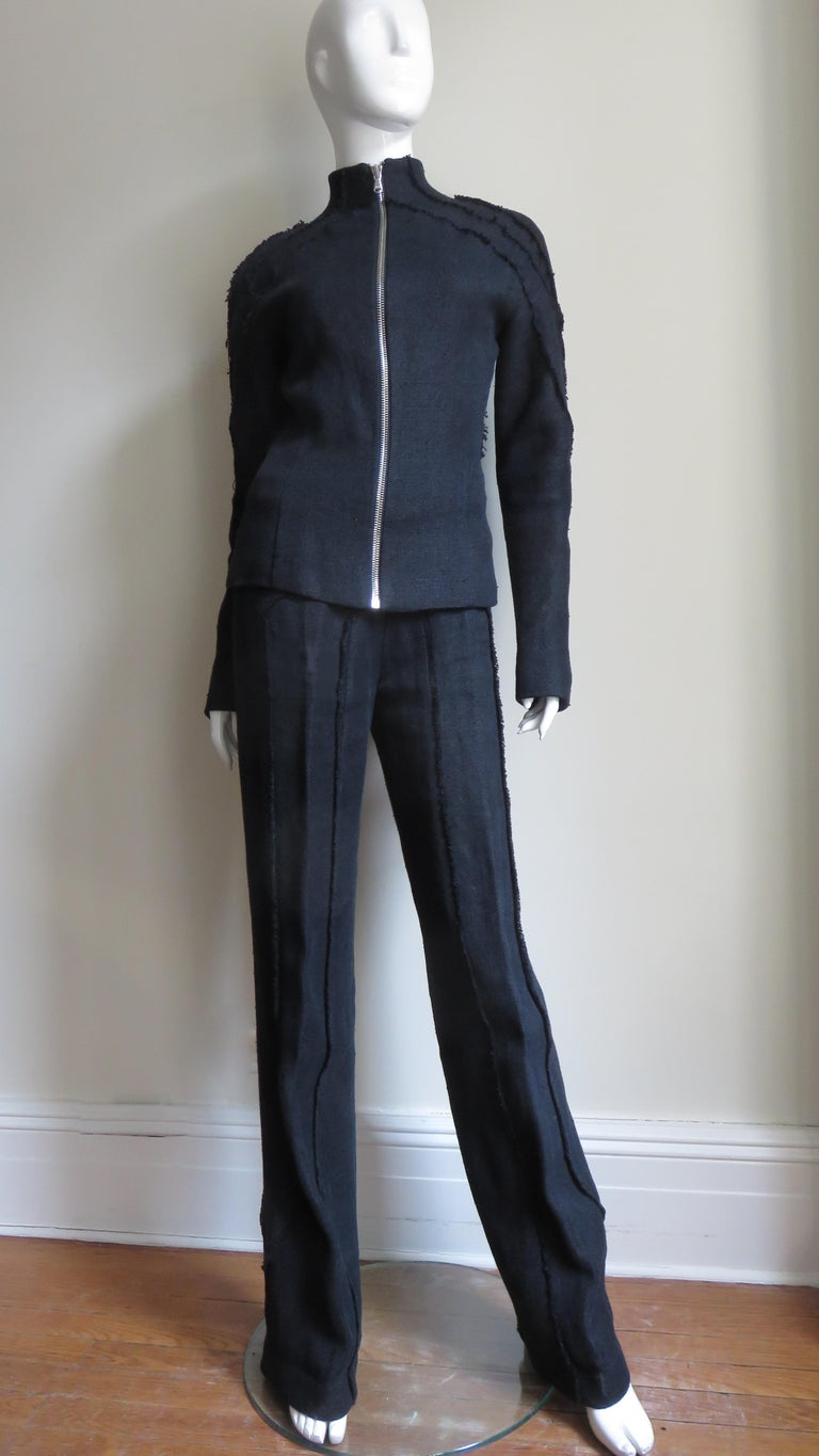 Alexander McQueen New Seamed Jacket and Pants A/W 1999 For Sale 4