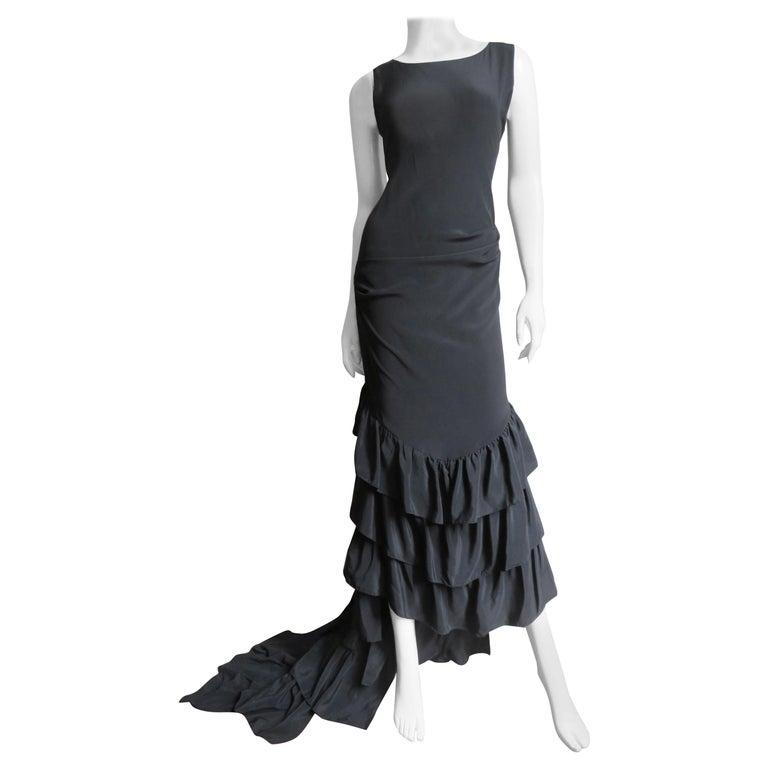Alexander McQueen New Silk Dress with Ruffles S/S 1999 For Sale