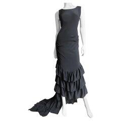 Alexander McQueen New Silk Dress with Ruffles S/S 1999