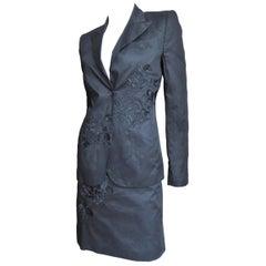 Alexander McQueen New SS 2002 Embroidery 3 Piece Skirt Suit