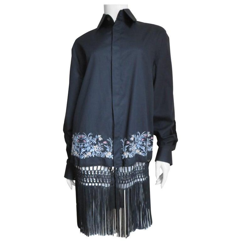 Alexander McQueen New Unisex Fringe Shirt S/S 1999 For Sale