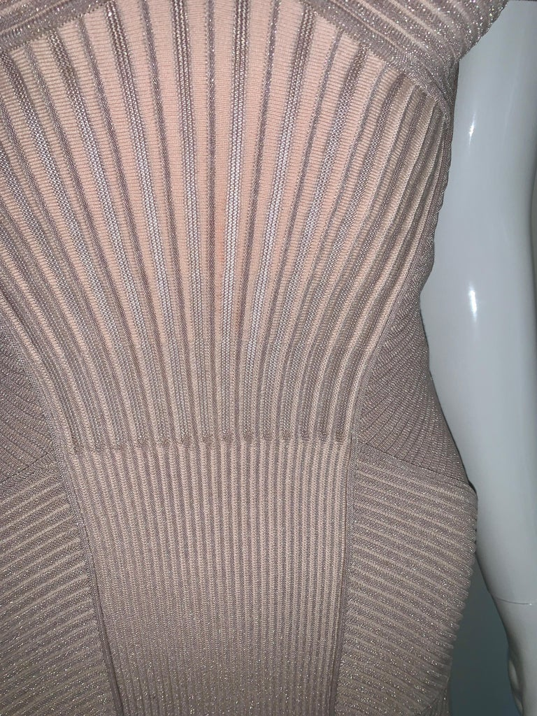 Alexander McQueen NWT Dusty Rose Cap Sleeve Cocktail Dress  For Sale 7