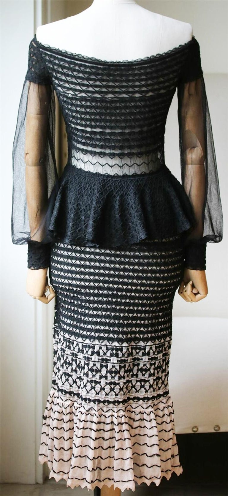 Women's Alexander McQueen Off-the-Shoulder Knitted Dress  For Sale