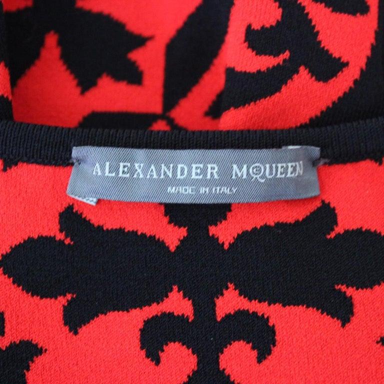 Alexander McQueen Optical Dress M For Sale 1