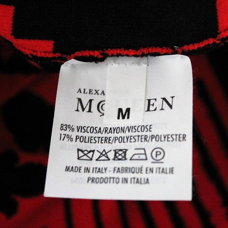 Alexander McQueen Optical Dress M For Sale 2