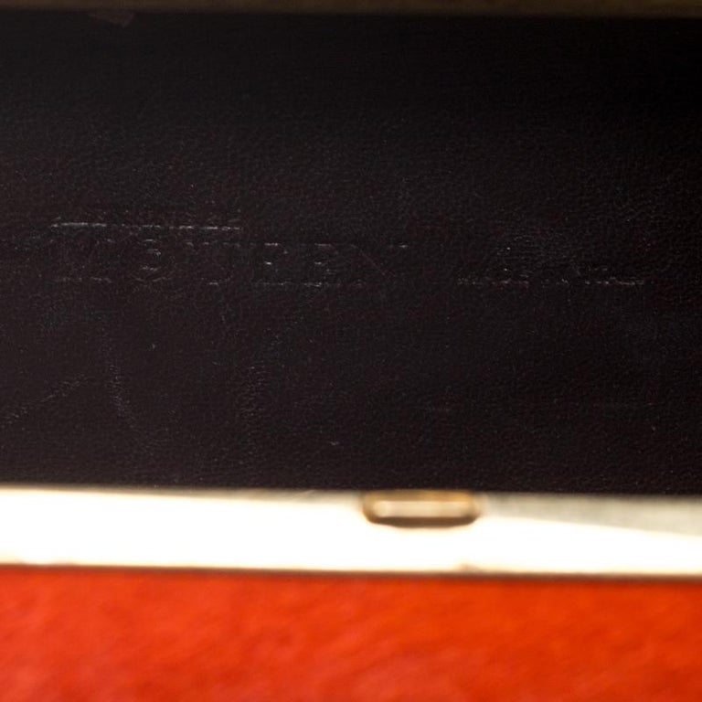 Alexander McQueen Orange Calfhair Skull Knuckle Box Clutch For Sale 6