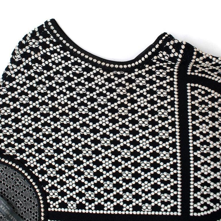 Alexander McQueen ornate-jacquard knit dress US 8 For Sale 1