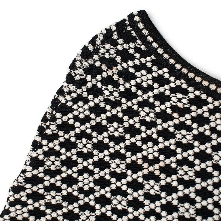 Alexander McQueen ornate-jacquard knit dress US 8 For Sale 2