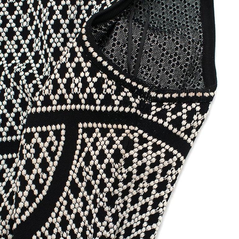 Alexander McQueen ornate-jacquard knit dress US 8 For Sale 3
