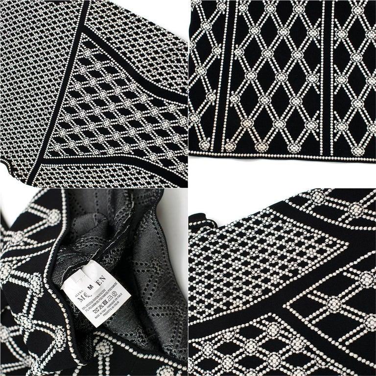 Alexander McQueen ornate-jacquard knit dress US 8 For Sale 4