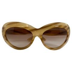Alexander McQueen Oversized Tortoise Shell Sunglasses