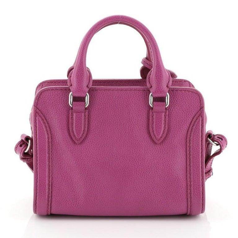 Pink Alexander McQueen Padlock Zip Around Tote Leather Mini For Sale