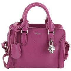 Alexander McQueen Padlock Zip Around Tote Leather Mini