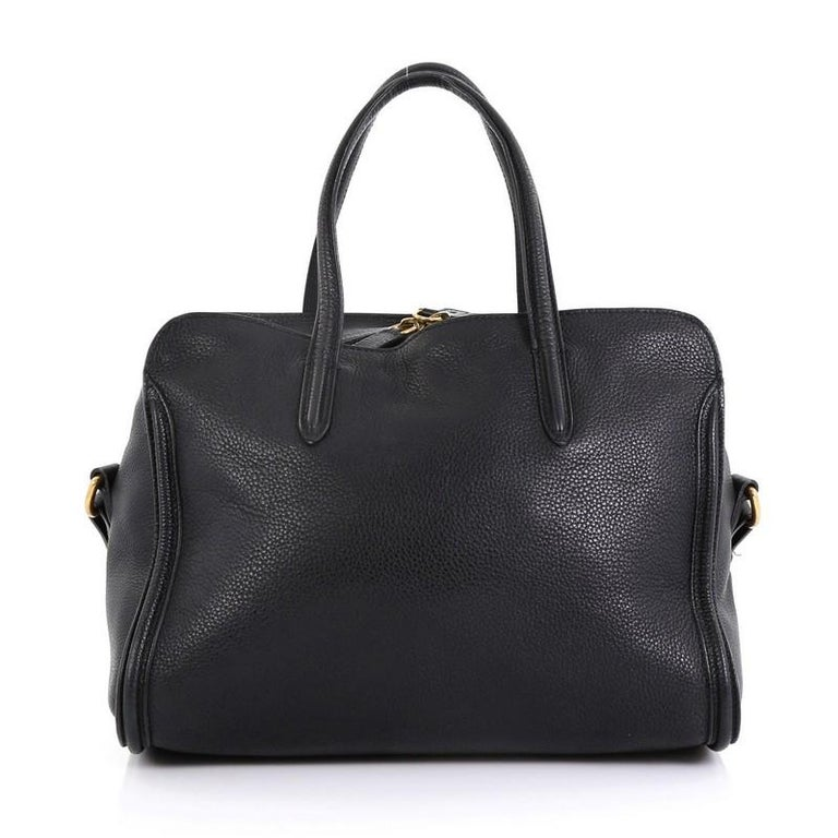 Alexander McQueen Padlock Zip Around Tote Leather Small In Good Condition For Sale In New York, NY
