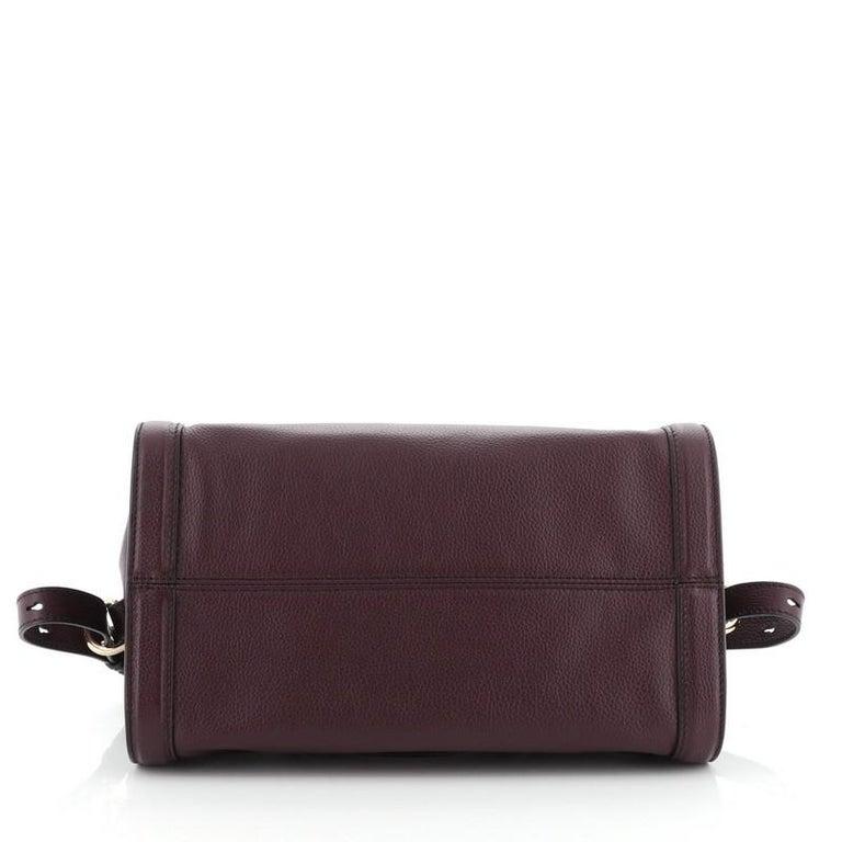 Women's or Men's Alexander McQueen Padlock Zip Around Tote Leather Small For Sale