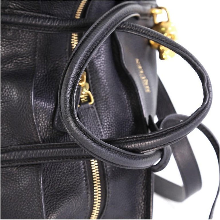 Alexander McQueen Padlock Zip Around Tote Leather Small For Sale 2