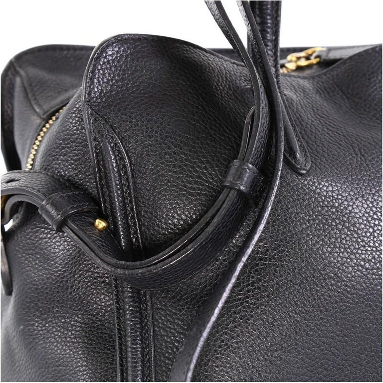 Alexander McQueen Padlock Zip Around Tote Leather Small For Sale 4