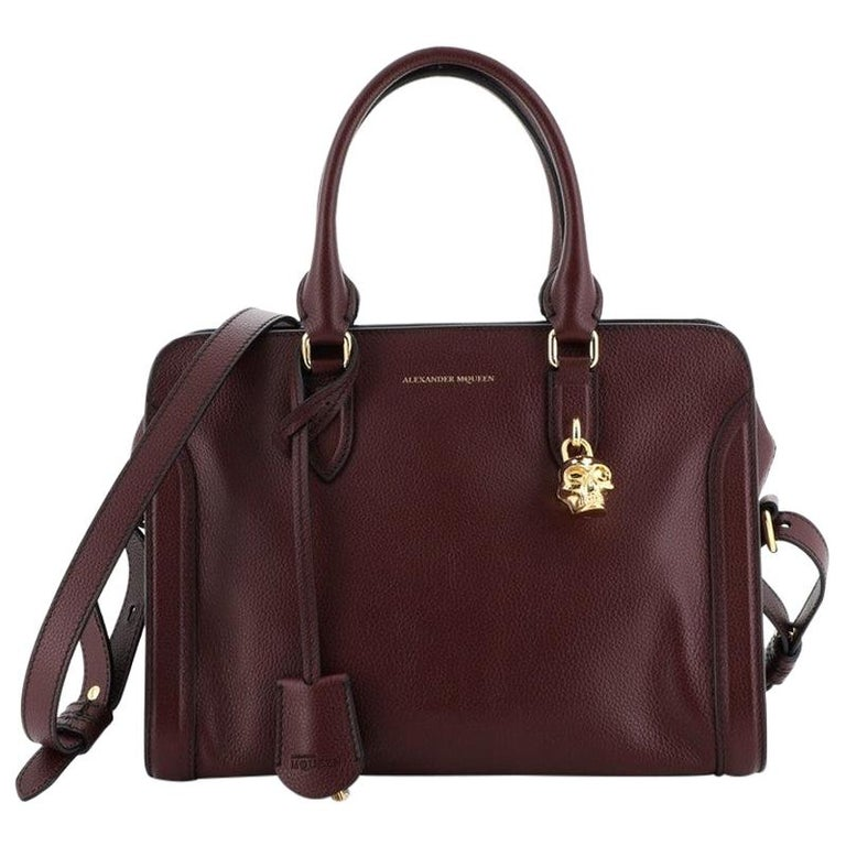 Alexander McQueen Padlock Zip Around Tote Leather Small For Sale