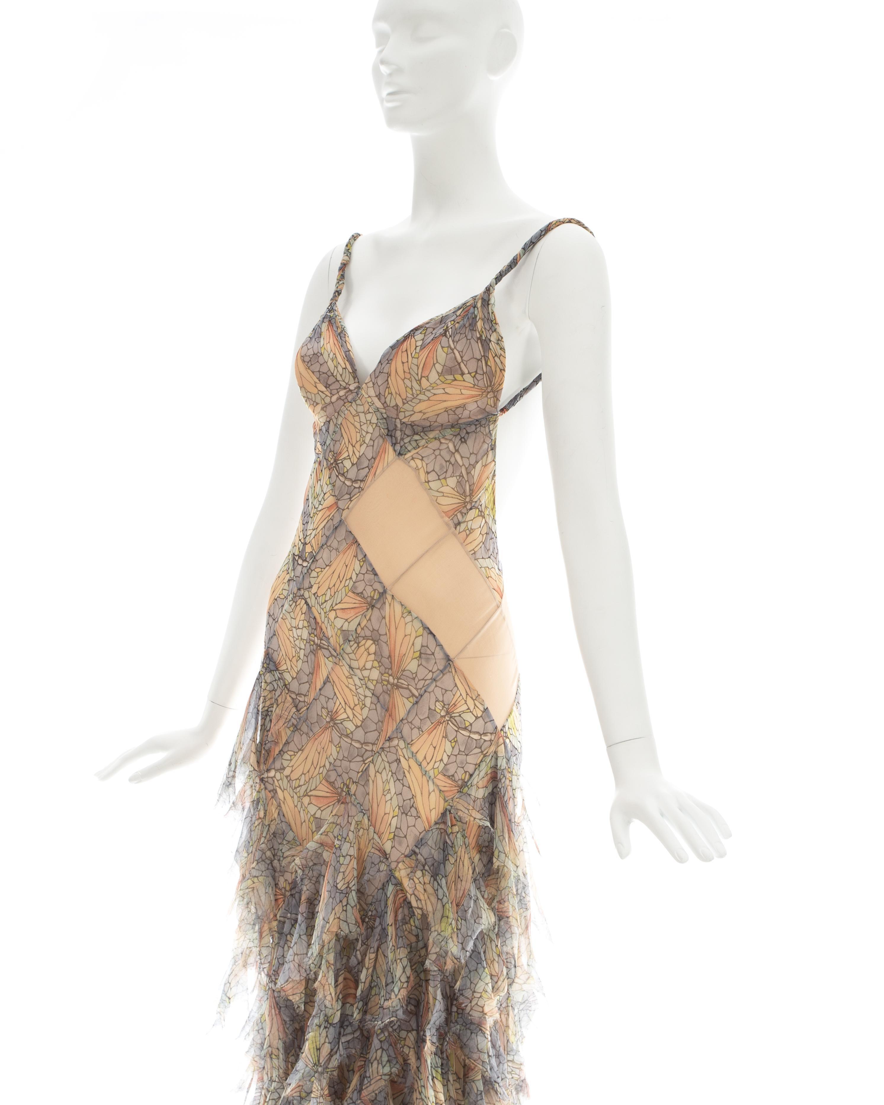 00a59d2767c8 Alexander McQueen pastel printed silk chiffon patchwork evening dress