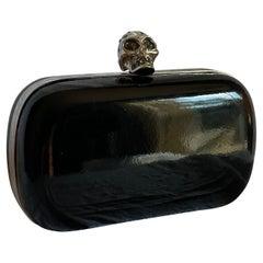Alexander McQueen Patent Leather Skull Box Clutch