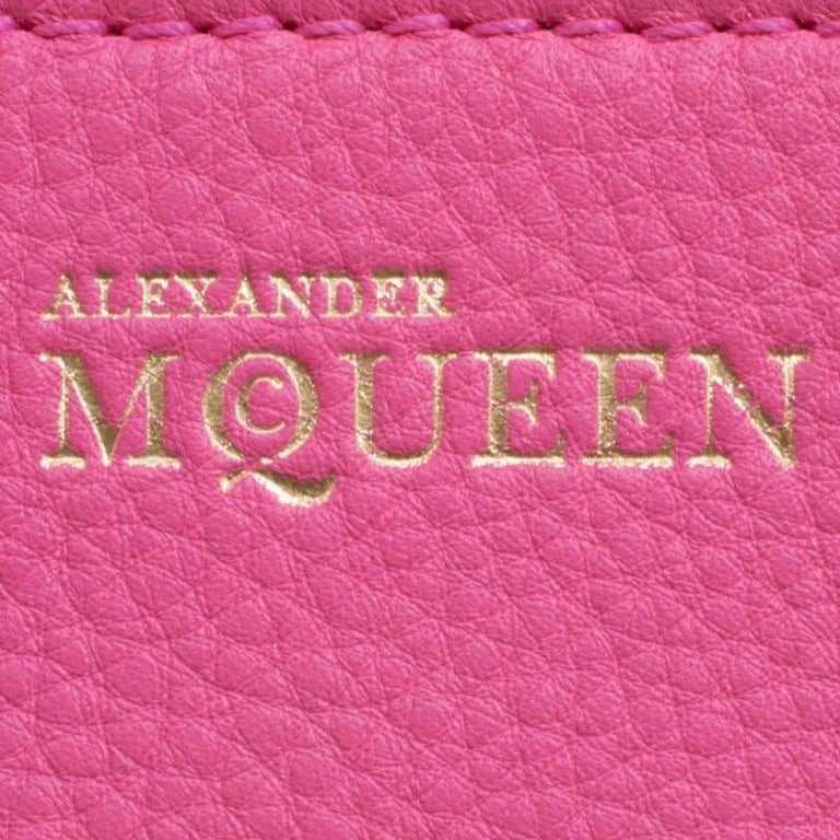 Alexander McQueen Pink Leather Small Heroine Satchel For Sale 4