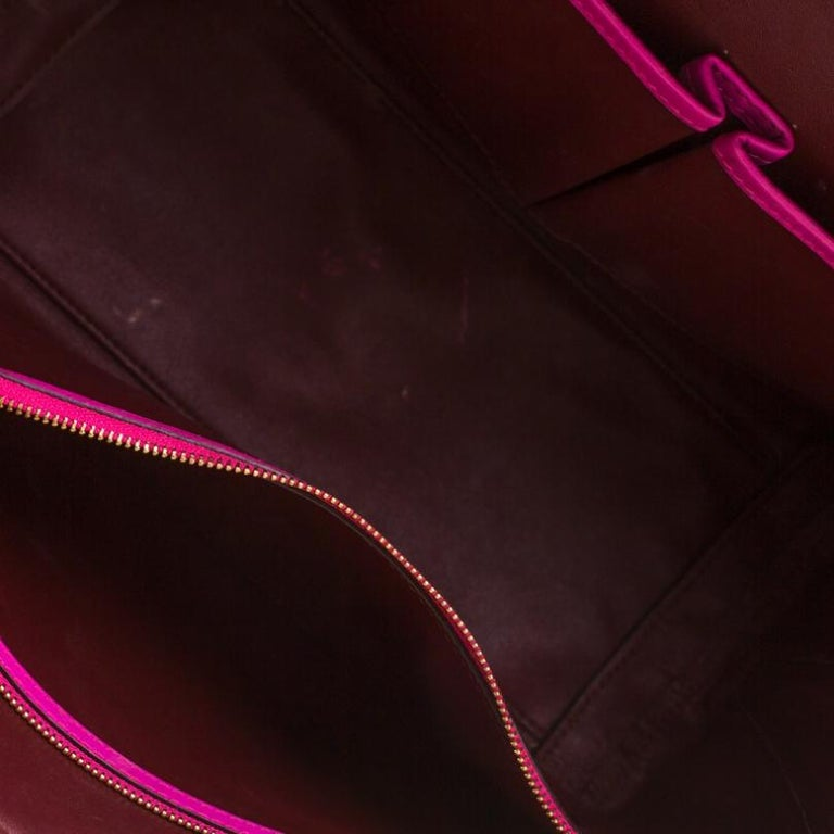 Alexander McQueen Pink Suede and Leather Heroine Tote For Sale 4