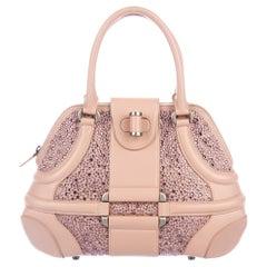 ALEXANDER MCQUEEN  Pink Swarovski-Embellished Novak Bag