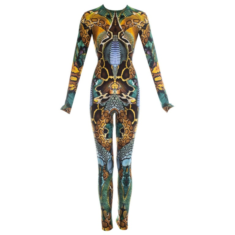 Alexander Mcqueen Plato's Atlantis printed lycra bodystocking, ss 2010  For Sale