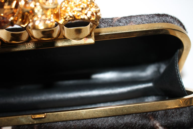 Alexander McQueen Ponyhair Knuckle Duster Clutch For Sale 7