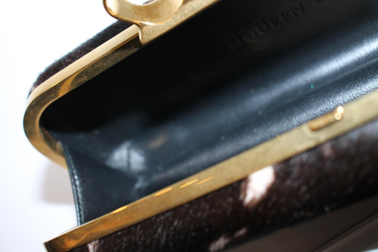 Alexander McQueen Ponyhair Knuckle Duster Clutch For Sale 9