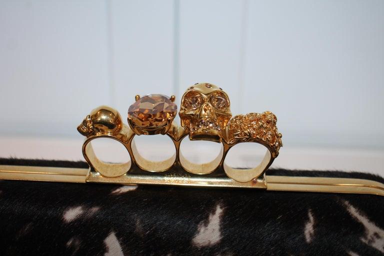 Alexander McQueen Ponyhair Knuckle Duster Clutch For Sale 1