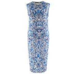 Alexander McQueen porcelain-print wool-jersey dress XL
